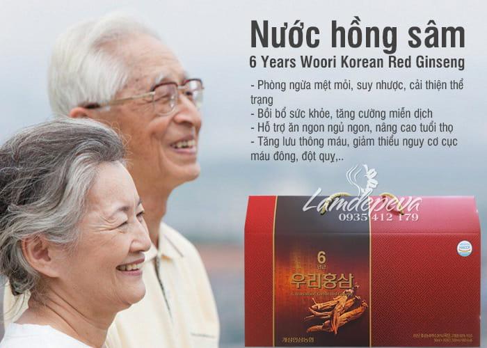 Nước hồng sâm 6 Years Woori Korean Red Ginseng Hàn Quốc 4
