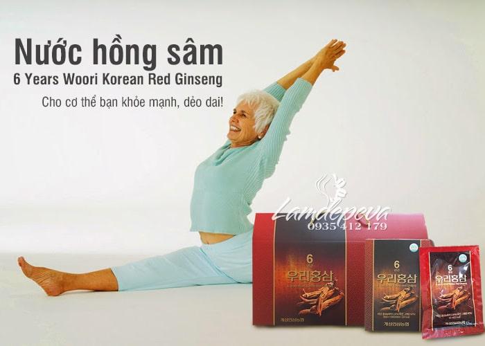 Nước hồng sâm 6 Years Woori Korean Red Ginseng Hàn Quốc 1