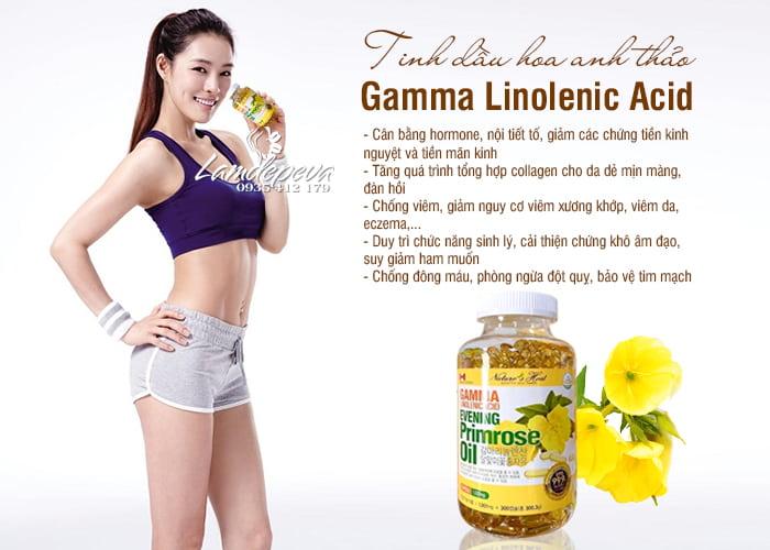 Tinh dầu hoa anh thảo Hàn Quốc 300 viên GLA nội tiết tố nữ 6