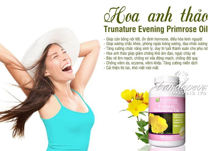 Hoa anh thảo Trunature Evening Primrose Oil 200 viên Mỹ 7