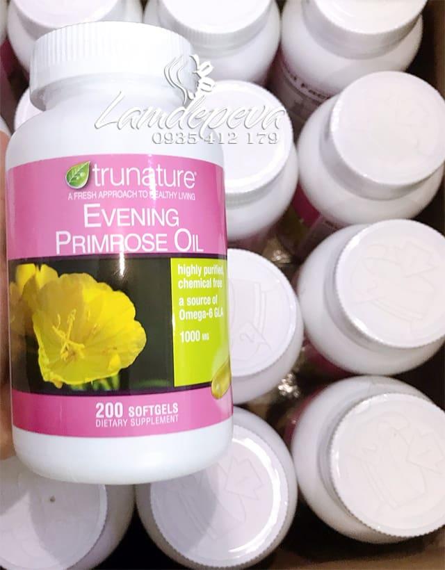 Hoa anh thảo Trunature Evening Primrose Oil 200 viên Mỹ 9