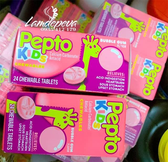 Viên nhai hỗ trợ tiêu hóa cho bé Pepto Kids Chewable 24 viên 9