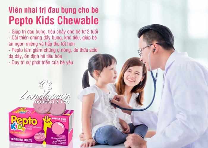 Viên nhai hỗ trợ tiêu hóa cho bé Pepto Kids Chewable 24 viên 7