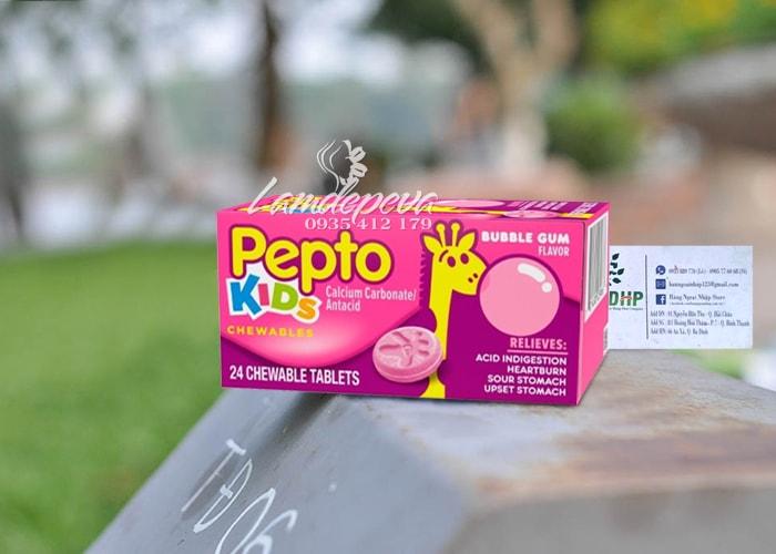 Viên nhai hỗ trợ tiêu hóa cho bé Pepto Kids Chewable 24 viên 3