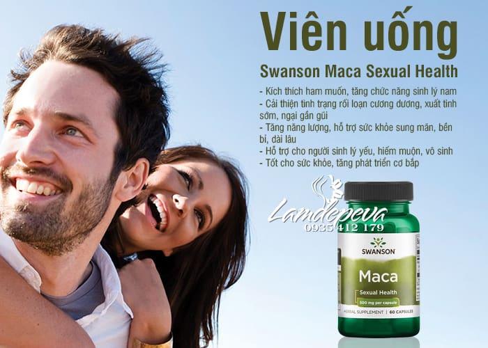 Viên uống Maca Swanson 500mg tăng cường sinh lý 5