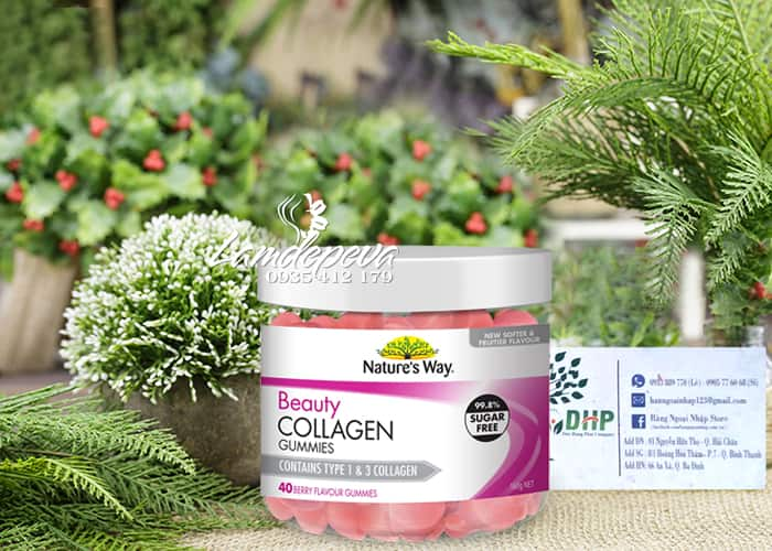 Kẹo dẻo Beauty Collagen Gummies Nature's Way 40 viên Úc 7