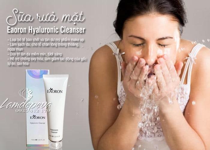 Sữa rửa mặt Eaoron Hyaluronic Cleanser Úc dưỡng ẩm tốt 7