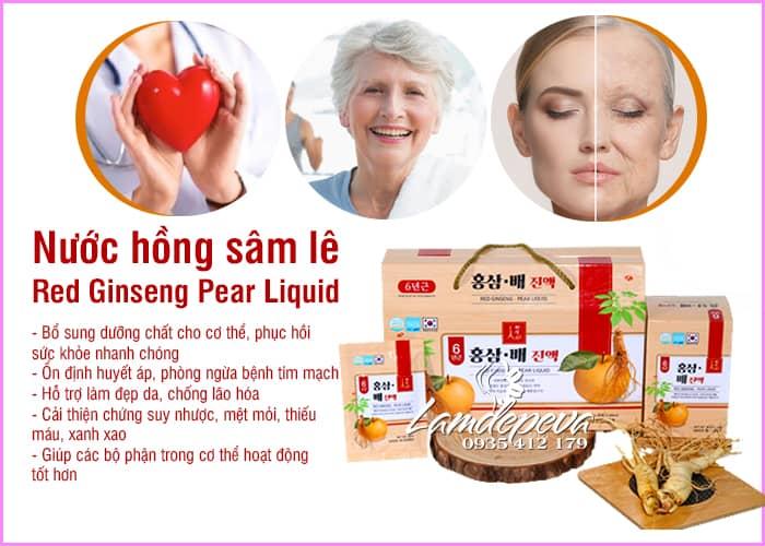 Nước hồng sâm lê Red Ginseng Pear Liquid Hàn Quốc 30 gói 7