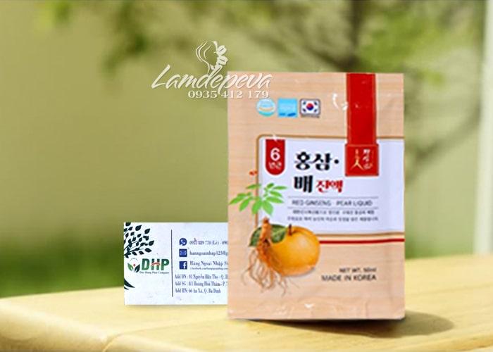 Nước hồng sâm lê Red Ginseng Pear Liquid Hàn Quốc 30 gói 4