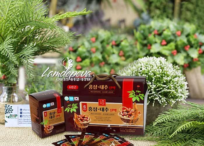 Nước hồng sâm táo đỏ Red Ginseng Jujube Liquid Hàn Quốc 30 6
