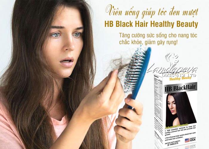 Viên uống HB Black Hair Healthy Beauty giảm rụng và đen tóc1