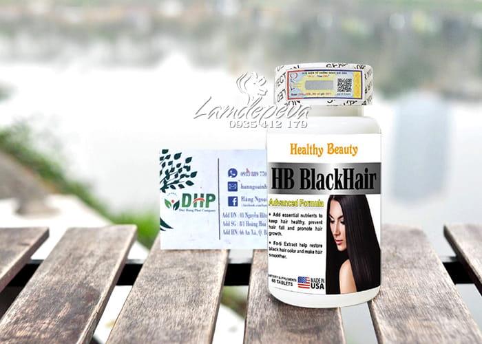 Viên uống HB Black Hair Healthy Beauty giảm rụng và đen tóc 0