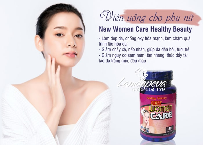 Viên uống New Women Care 30 viên Healthy Beauty chính hãng 1