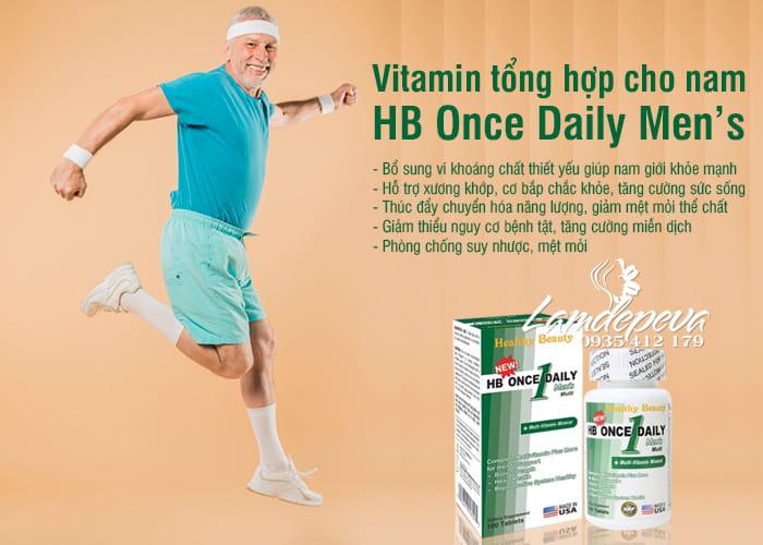 Vitamin tổng hợp cho nam HB Once Daily Men's của Mỹ 7