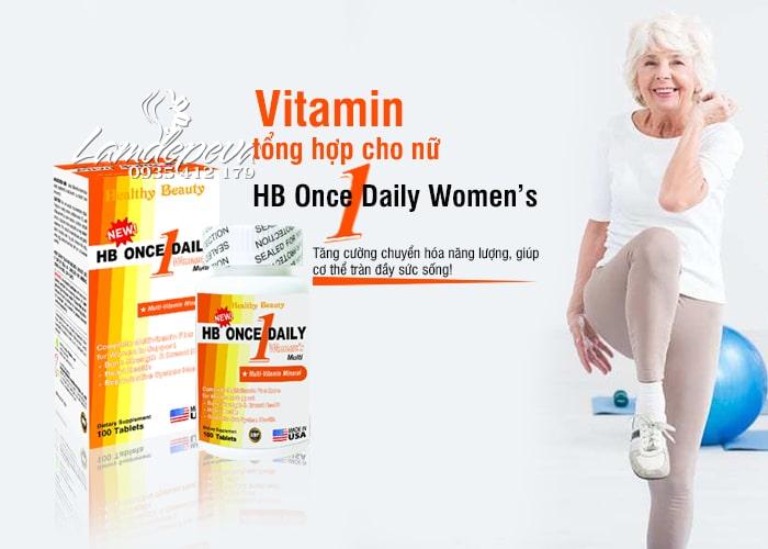 Vitamin tổng hợp cho nữ HB Once Daily Women's của Mỹ 100v 5
