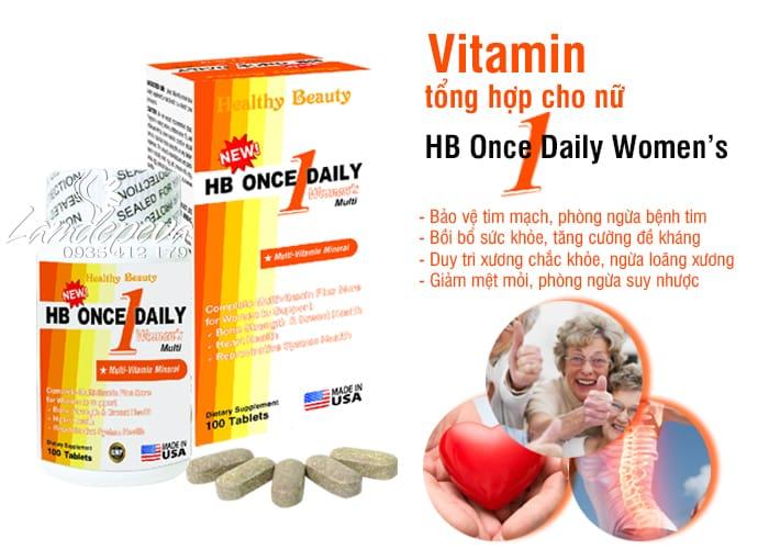 Vitamin tổng hợp cho nữ HB Once Daily Women's của Mỹ 100v 7