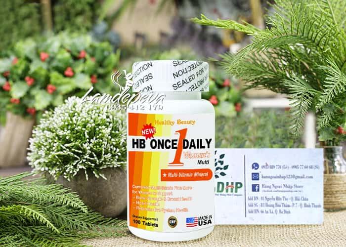 Vitamin tổng hợp cho nữ HB Once Daily Women's của Mỹ 100v 9
