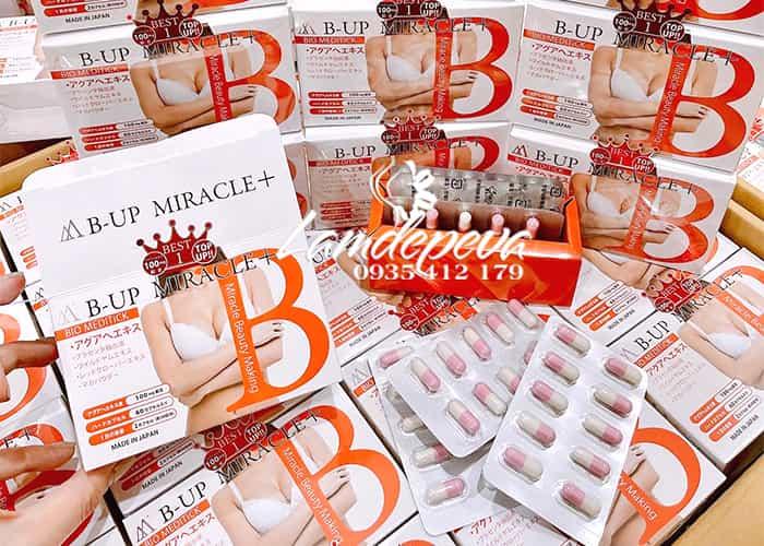 Viên uống nở ngực nở mông B - Up Miracle số 1 Nhật Bản 4