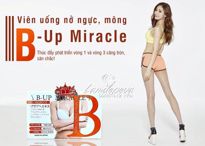 Viên uống nở ngực nở mông B - Up Miracle số 1 Nhật Bản 1