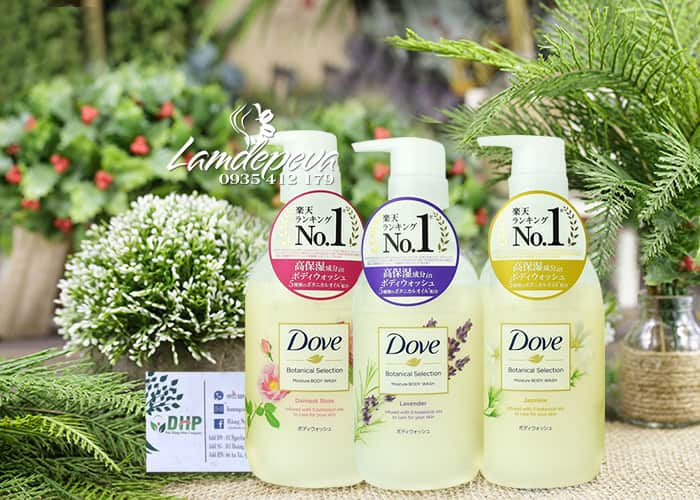 Sữa tắm Dove Botanical Selection 500g của Nhật Bản 8