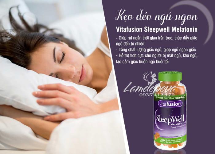 Kẹo dẻo giúp ngủ ngon Sleepwell Vitafusion 250 viên Mỹ 0