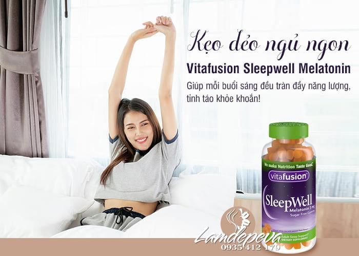 Kẹo dẻo giúp ngủ ngon Sleepwell Vitafusion 250 viên Mỹ 4