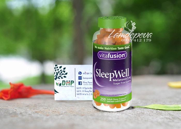 Kẹo dẻo giúp ngủ ngon Sleepwell Vitafusion 250 viên Mỹ 9