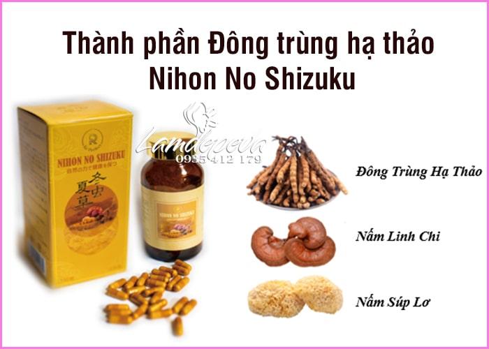 Đông trùng hạ thảo Nihon No Shizuku cao cấp của Nhật Bản6