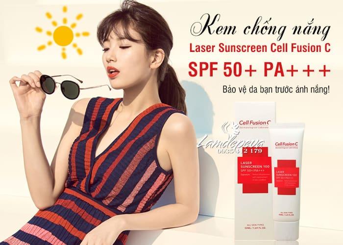 Kem chống nắng Laser Sunscreen 100 SPF 50+ PA+++ Hàn Quốc   3