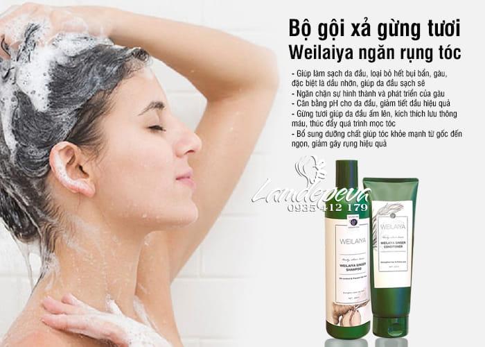 Bộ gội xả gừng Weilaiya, giảm gãy rụng, giúp tóc dày mượt 7