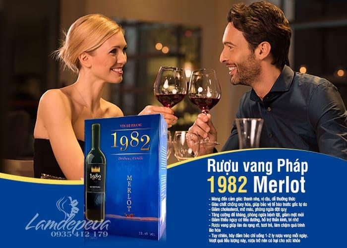 Rượu vang 1982 Merlot hộp 3 lít - Xách tay từ Pháp  1