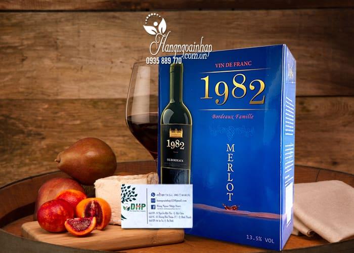 Rượu vang 1982 Merlot hộp 3 lít - Xách tay từ Pháp  5