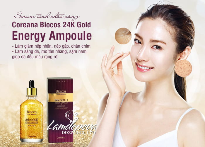 Serum Biocos 24K Gold Energy Ampoule Coreana 100ml Hàn 1