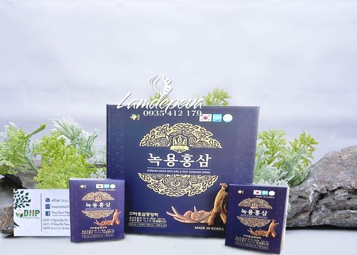 Nước hồng sâm nhung hươu hộp xanh Geasung 30 gói x 50ml 7