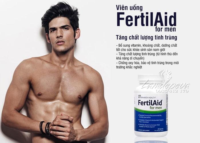 Viên uống FertilAid For Men 90 viên - Tăng chất lượng tinh trùng 6