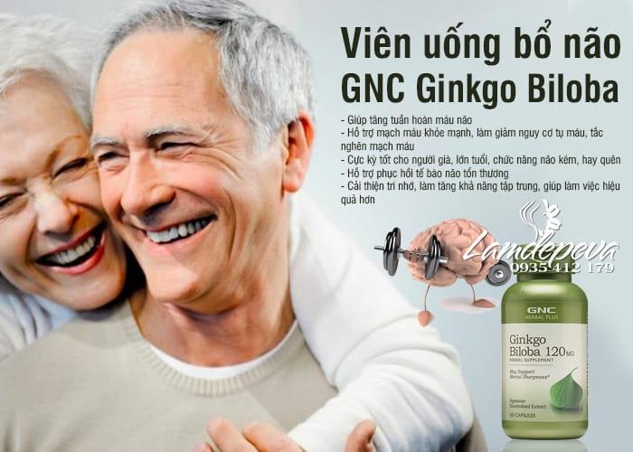 Viên uống bổ não GNC Ginkgo Biloba 120mg của Mỹ hộp 100 viên 2