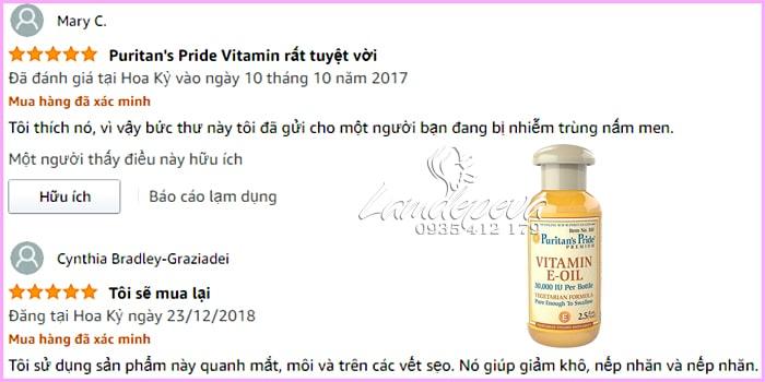 Tinh dầu Vitamin E Oil Puritan's Pride 30.000IU tinh khiết tự nhiên 0