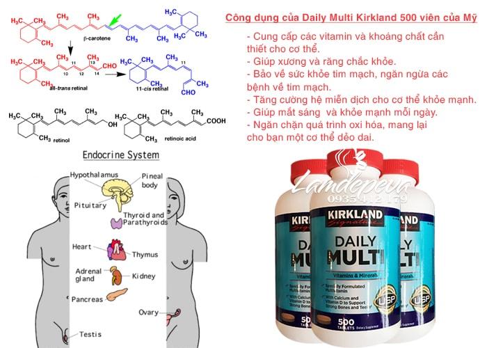 Vitamin tổng hợp Daily Multi Kirkland 500 viên hỗ trợ sức khỏe người lớn dưới 50 tuổi