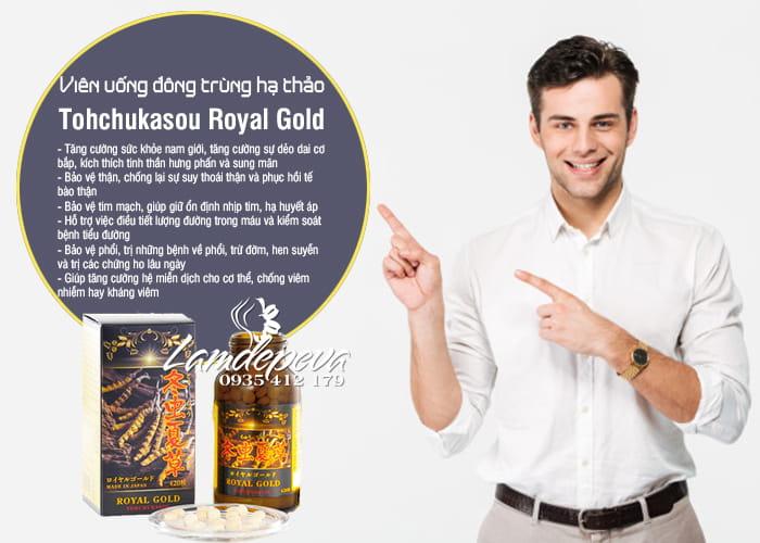 Viên uống đông trùng hạ thảo Tohchukasou Royal Gold của Nhật Bản 5