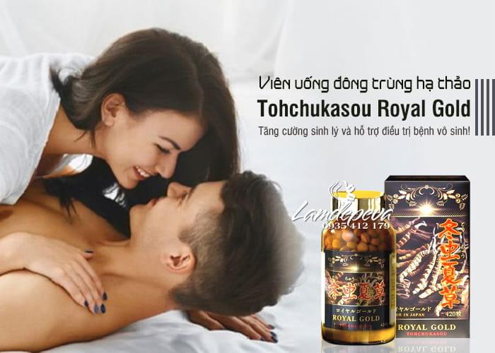Viên uống đông trùng hạ thảo Tohchukasou Royal Gold của Nhật Bản 4