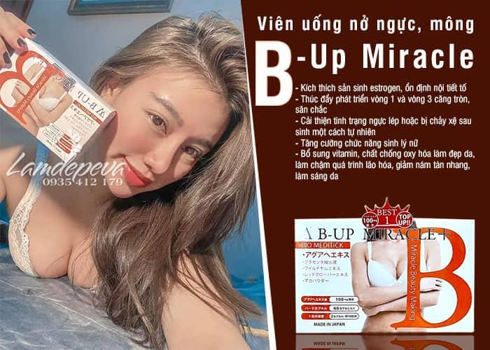 Viên uống nở ngực nở mông B - Up Miracle số 1 Nhật Bản 9