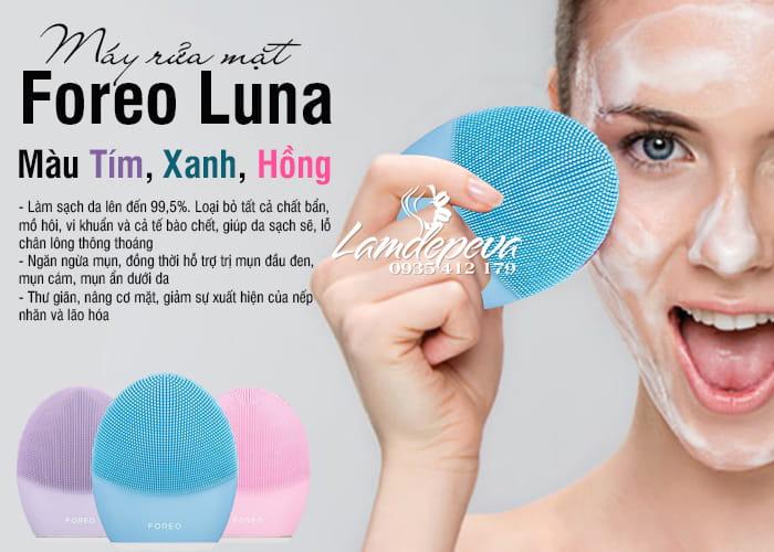 Máy rửa mặt Foreo Luna 3 đủ 3 màu tím, hồng, xanh 9