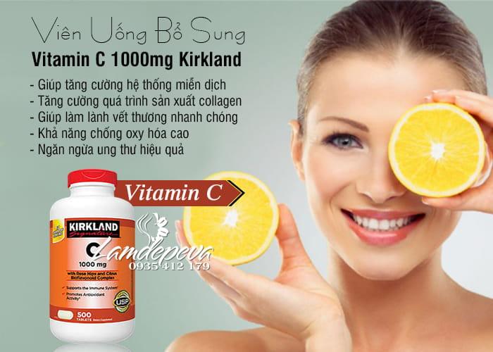 Viên uống bổ sung Vitamin C 1000mg Kirkland hộp 500 viên 2