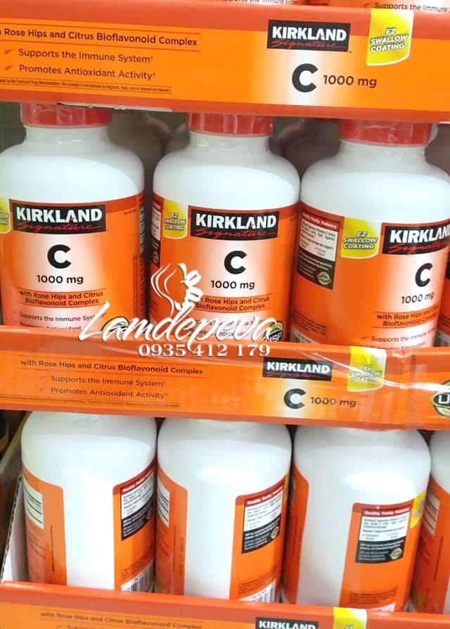 Viên uống bổ sung Vitamin C 1000mg Kirkland hộp 500 viên 0