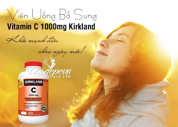 Viên uống bổ sung Vitamin C 1000mg Kirkland hộp 500 viên 8