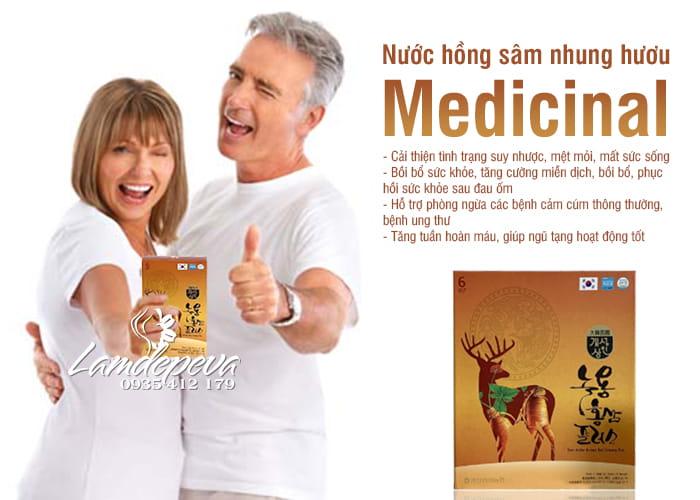 Nước hồng sâm nhung hươu Medicinal 30 gói x 70ml hộp vàng 7