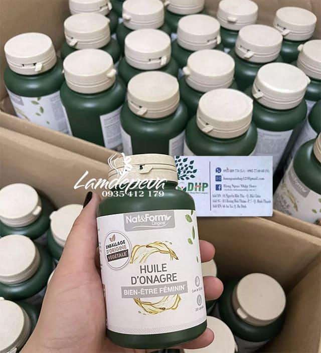 Viên uống tinh dầu hoa anh thảo Nat & Form Huile D'Onagre 200 viên 9