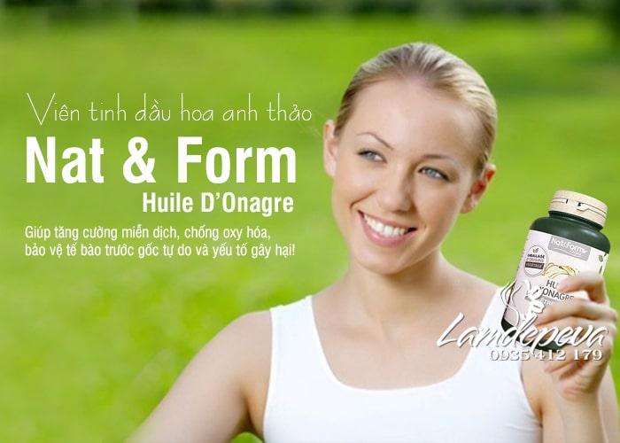 Viên uống tinh dầu hoa anh thảo Nat & Form Huile D'Onagre 200 viên 3