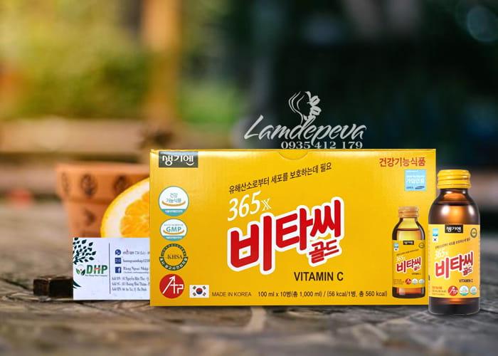 Nước uống bổ sung 365X Vitamin C Gold 10 chai Hàn Quốc 8