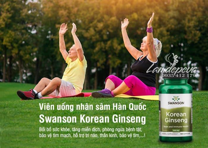 Viên uống nhân sâm Swanson Korean Ginseng 500mg của Mỹ 5